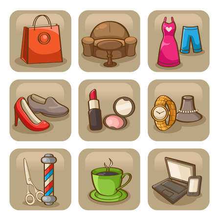 A vector illustration of fashion icon sets Vector