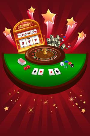 A vector illustration of casino gambling design Иллюстрация