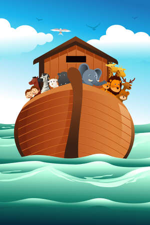 noah: illustration of Noah ark