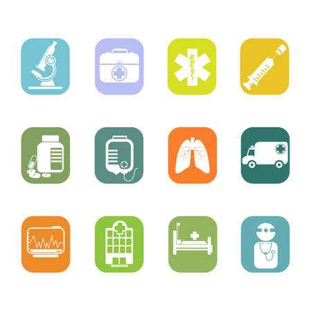 illustration of medical icon sets Vector