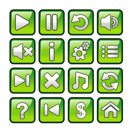 illustration of game icon sets Ilustração