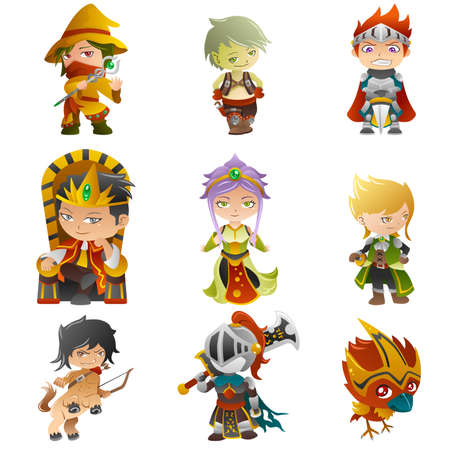 A illustration of fantasy avatar icons Ilustrace