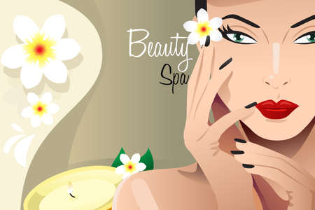 A vector illustration of spa flyer with copyspace Vector