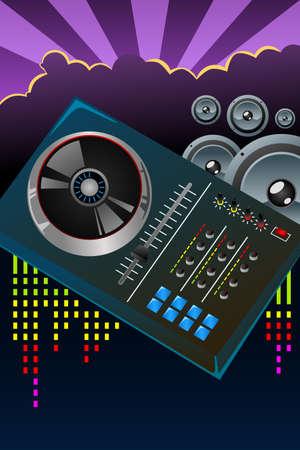 A illustration of disco night flyer design Stock fotó - 28074610