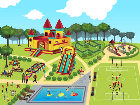 cliparts: illustratie van speeltuin kaart