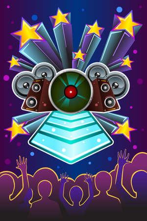 illustration of disco night flyer design