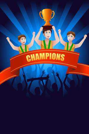 An illustration of champions poster design