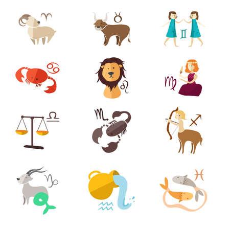 cabra: Una ilustración vectorial de diseño Iconos de la muestra del zodiaco