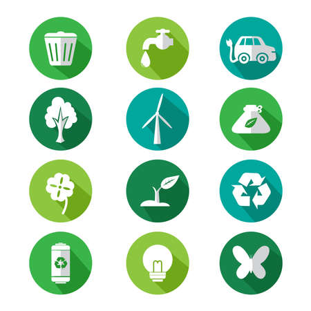 A vector illustration of go green icon sets Vector