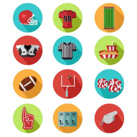 arbitros: Una ilustraci�n vectorial de iconos de f�tbol americano