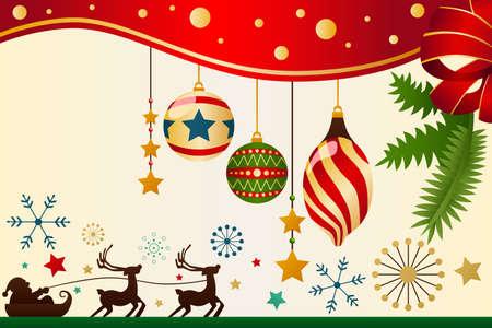 natale: Una illustrazione vettoriale di Natale ornamenti sfondo