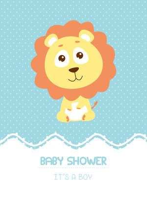 A vector illustration of baby shower invitation card design Ilustracja