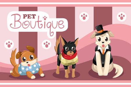 illustration of pet boutique