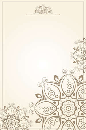 paper background: A vector illustration of floral pattern paper background