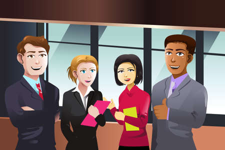 A vector illustration of business people