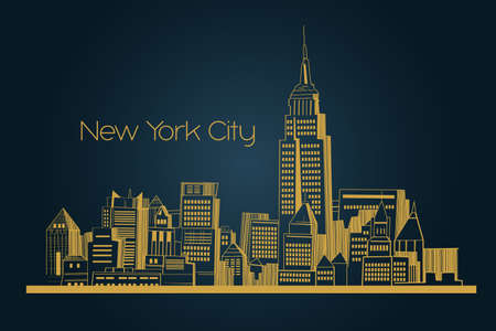 A vector illustration of new York city background