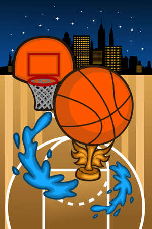 A illustration of basketball background template