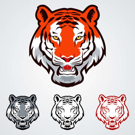 タイガー ヘッドのアイコンのベクトル イラスト