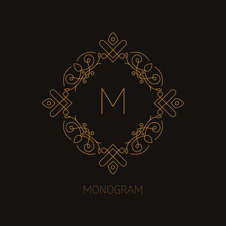 A vector illustration of monogram design template