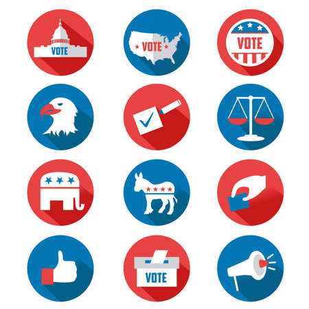 presidential: A vector USA presidential election icon sets Illustration