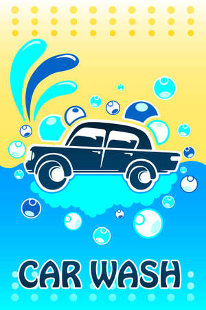 commercial sign: A vector illustration of car wash banner design with copyspace