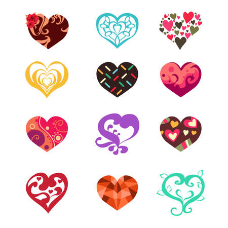 heart background: A vector illustration of heart icon sets