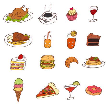 ice tea: A vector illustration of food icon sets Illustration