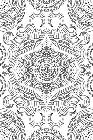 A vector illustration of coloring pattern for adult