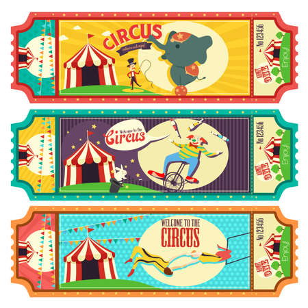 circus ticket: A vector illustration of circus ticket design Illustration