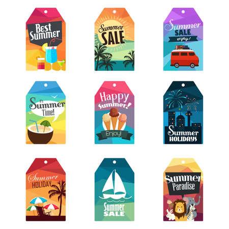 illustration of summer tag design