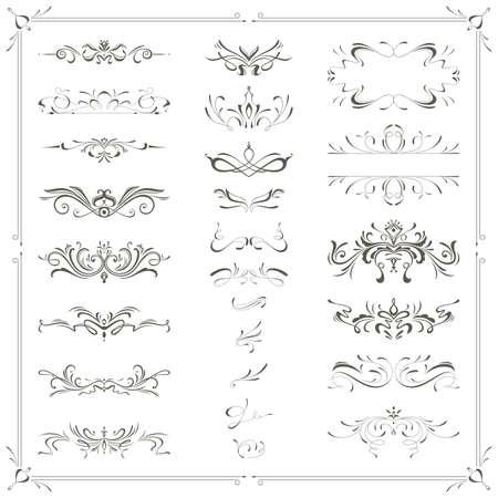 calligraphic design: illustration of calligraphic design