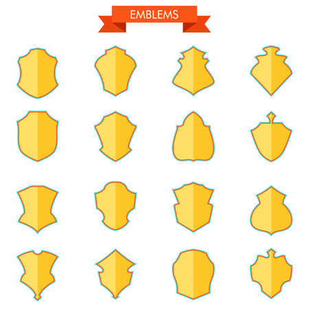 A vector illustration of shield icon sets