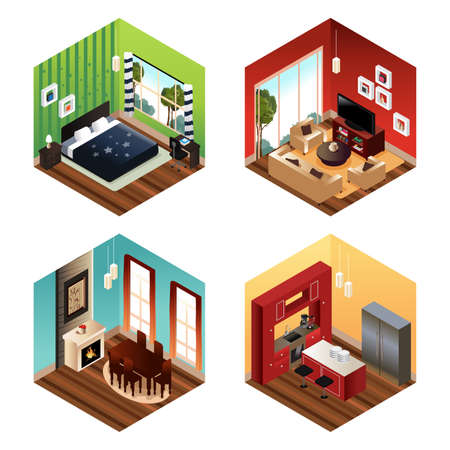 livingroom: A vector illustration of modern home scene Illustration