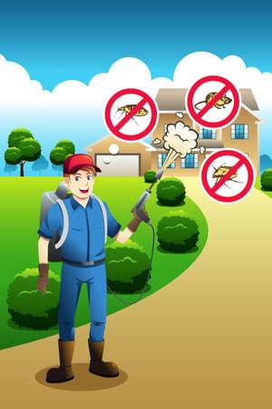 exterminator: A vector illustration of exterminator service poster design Illustration