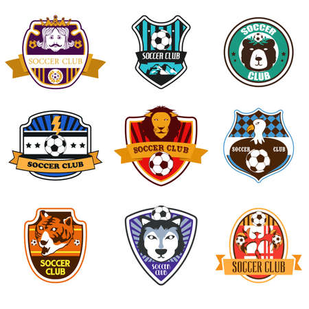 A vector illustration of Soccer Club Logos