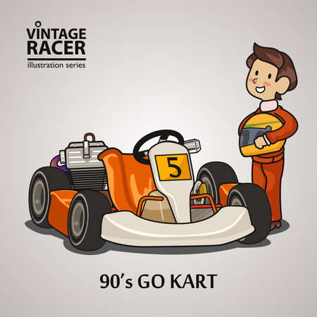 race car driver: A vector illustration of a Race Car Driver Illustration