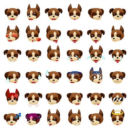 dog: A vector illustration of a Boxer Dog Emoji Emoticon Expression