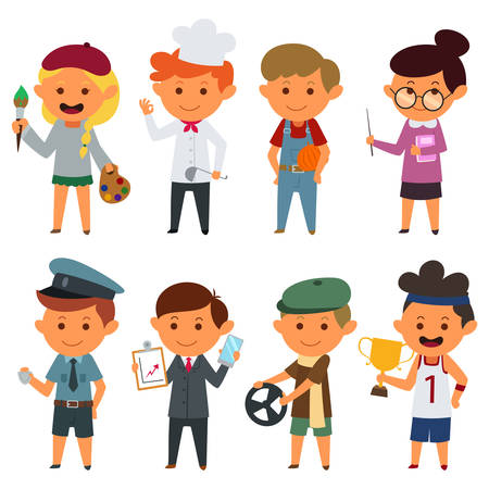 jobs people: A vector illustration of Different People With Different Jobs Illustration
