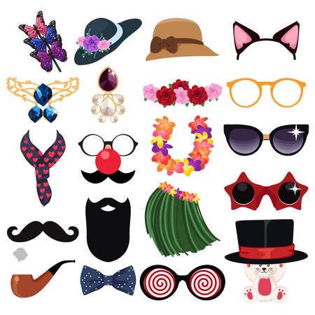 A vector illustration of Fashion Accessories Design Elements