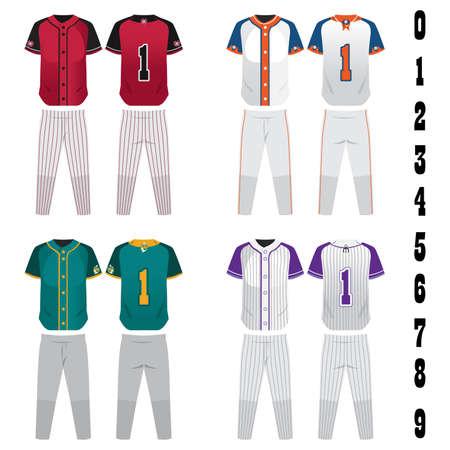 A vector illustration of baseball jersey design
