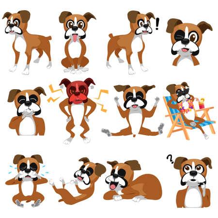 3 147 boxer dog stock vector illustration and royalty free boxer dog rh 123rf com boxer dog clip art free boxer dog clipart free