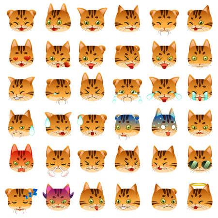 bengal: A vector illustration of Bengal Cat Emoji Emoticon Expression