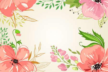 petal: A vector illustration of Pink Flowers Background