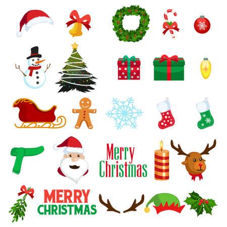 Une illustration vectorielle des icônes Clipart Noël Noël