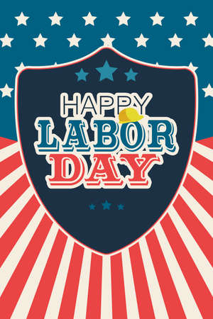 A vector illustration of Labor Day Poster