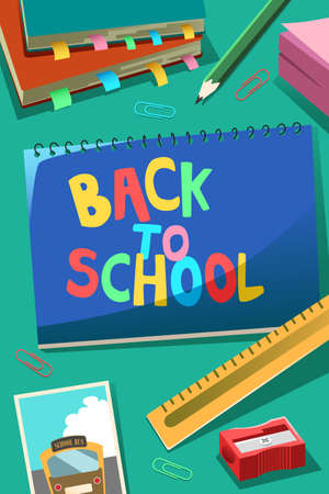 A vector illustration of Back to School Poster