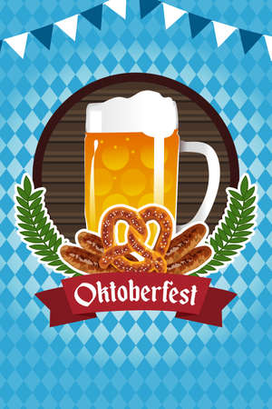 Une illustration vectorielle de l'affiche d'Oktoberfest