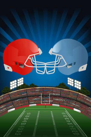 Une illustration vectorielle de l'affiche de football américain Illustration
