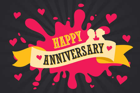 A vector illustration of Happy Anniversary Template Poster