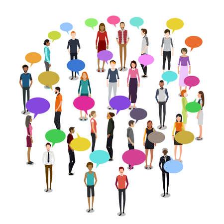 Une illustration vectorielle de People in Crowd Illustration